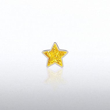 Lapel Pin - Glitter Gold Star