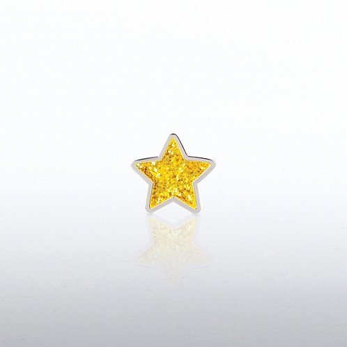 Glitter Gold Star Lapel Pin
