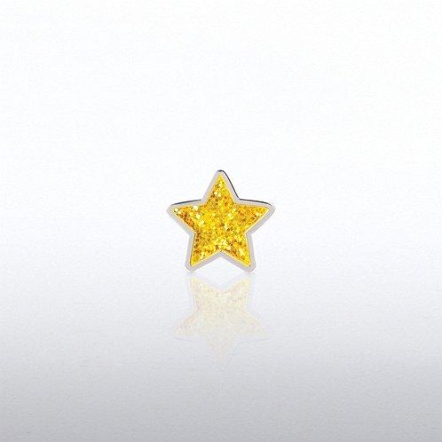 Glitter Gold Star Lapel Pin