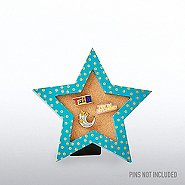 Corkboard Pin Collector - Gold Metallic Polka Dot Star