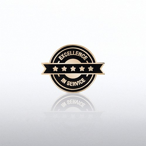 Excellence in Service - Circle Banner Lapel Pin