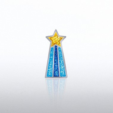 Lapel Pin - Glitter Shooting Star