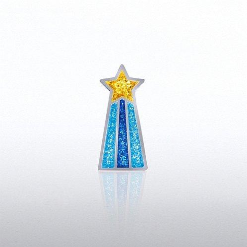 Glitter Shooting Star Lapel Pin