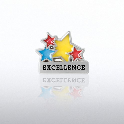 Excellence Translucent Stars Lapel Pin