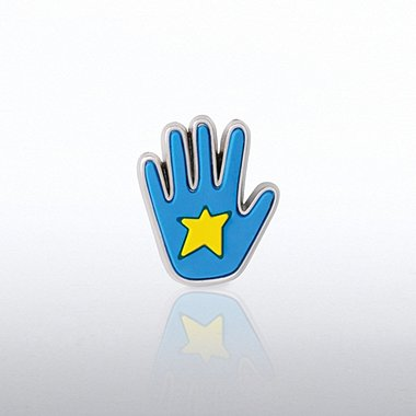 PVC Lapel Pin - Star Hand