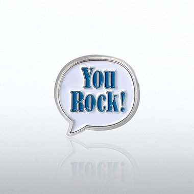 Bobble Lapel Pin - You Rock!