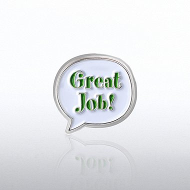 Bobble Lapel Pin - Great Job!
