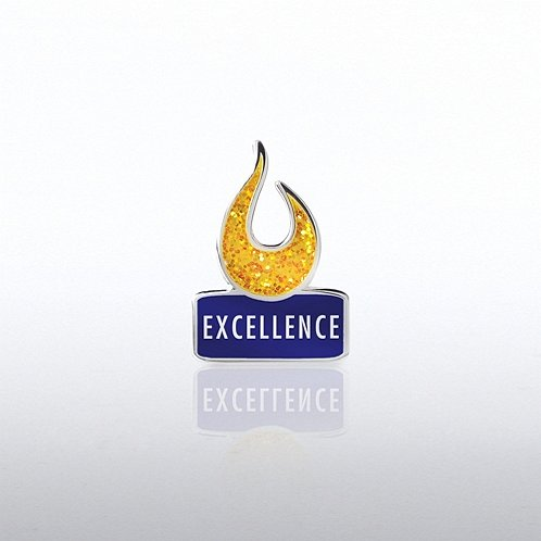 Glitter Excellence Flame Lapel Pin