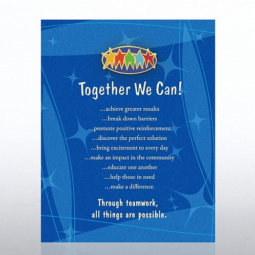 Together We Can - Blue Card Character Pin