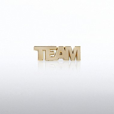 Lapel Pin - TEAM Gold Letters
