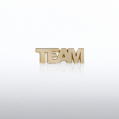 TEAM Gold Letters Lapel Pin