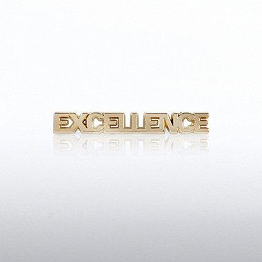 Lapel Pin - Excellence Gold Letters
