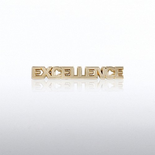 Excellence Gold Letters Lapel Pin