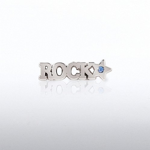 Rock Star with Gem Lapel Pin