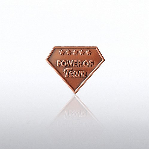 Power of Team Diamond Lapel Pin