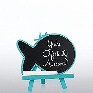Desktop Chalkboard Easel - Blue Fish