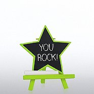 Desktop Chalkboard Easel - Green Star