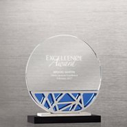 Abstract Metal and Crystal Award - Circle