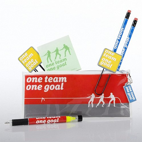 One Team, One Goal Office Supply Zip Case