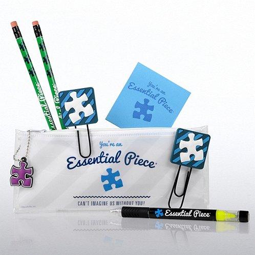 Blue Essential Piece Office Supply Zip Case