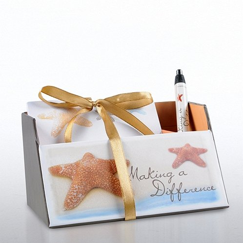 Making a Difference Starfish Memo Caddy