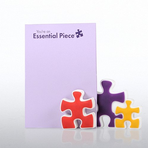Essential Piece Magnet Photo Holder & Pad Gift Set