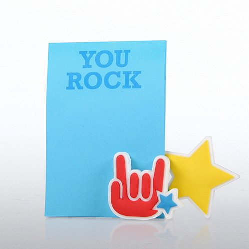 You Rock Magnet Photo Holder & Pad Gift Set