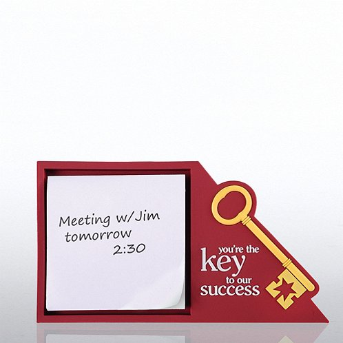 Key to Success PVC Desktop Sticky Note Set