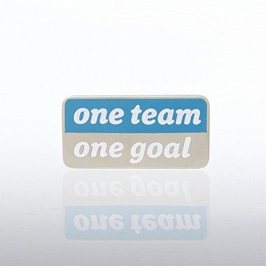 Lapel Pin - One Team, One Goal - Words