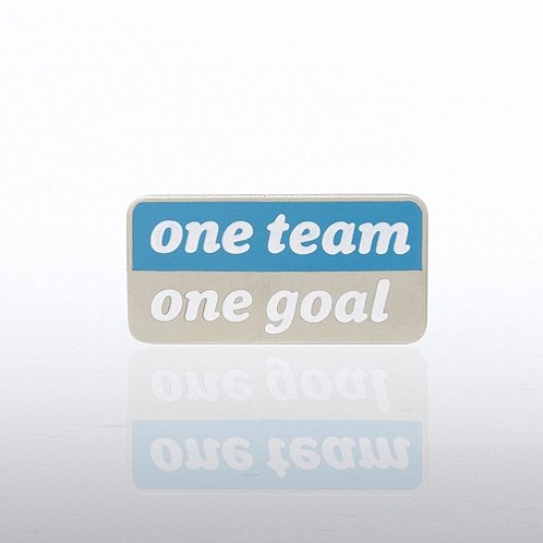 One Team, One Goal - Words Lapel Pin