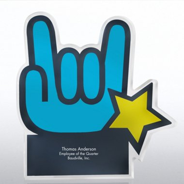 Acrylic Galaxy Trophy - You Rock