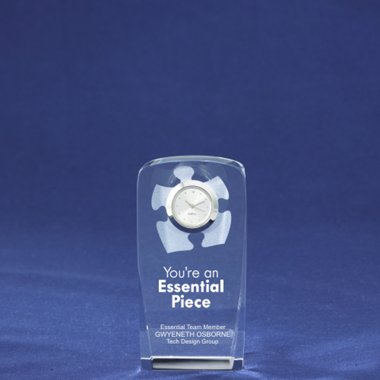 Crystal Award Clock - Essential Piece