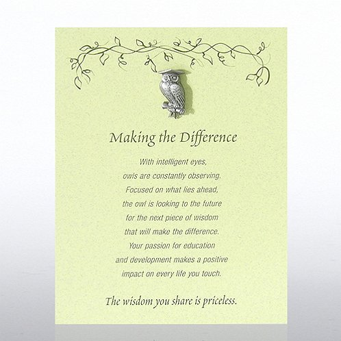 Owl: Making the Difference Character Pin