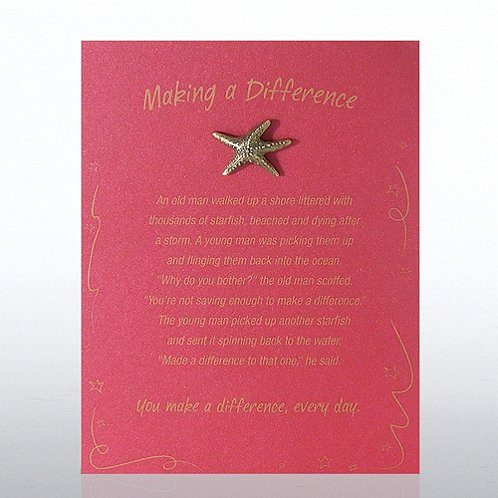 Starfish: Making a Difference - Red Card Character Pin