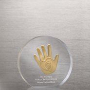 Embedded Medallion Trophy - Helping Hand