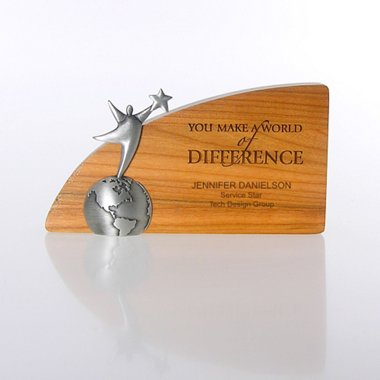 Character Trophy - You Make a World of Difference