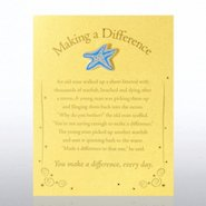 Character Pin - Starfish: Making a Difference - Gold Card