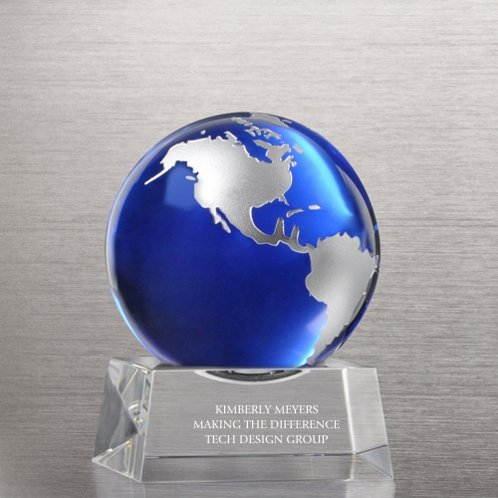 You Make a World of Difference Trophy