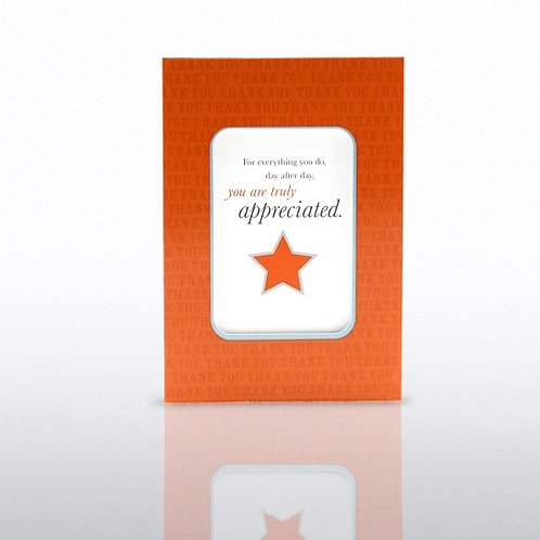 You are Truly Appreciated Cheers Note Frame Refill