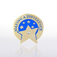 Lapel Pin - Making a Difference Star with Gem