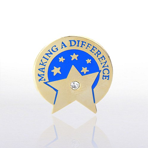 Making a Difference Star with Gem Lapel Pin