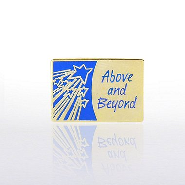 Lapel Pin - Above and Beyond with Shooting Stars