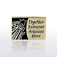 Lapel Pin - Together Everyone Achieves More Shooting Stars