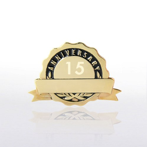 Black Personalized Anniversary Lapel Pin
