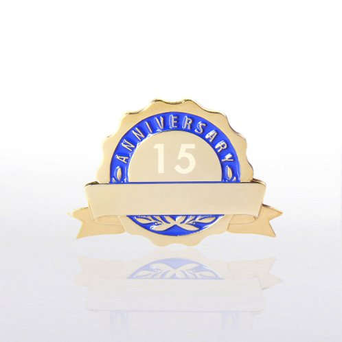 Blue Personalized Anniversary Lapel Pin