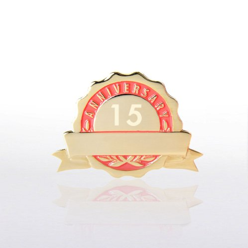 Red Personalized Anniversary Lapel Pin