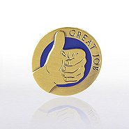 Lapel Pin - Thumbs Up Great Job