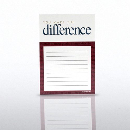 You Make the Difference Cheers Note Magnet Refill
