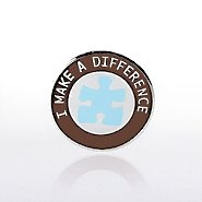Lapel Pin - Puzzle Piece - I Make a Difference