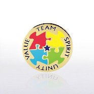 Lapel Pin - Team, Spirit, Unity, Value